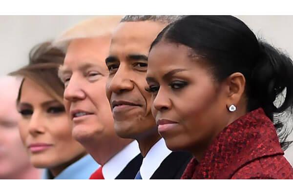 El Trump que «se lo cree» y la mirada dardo de Michelle Obama. El Correo.com