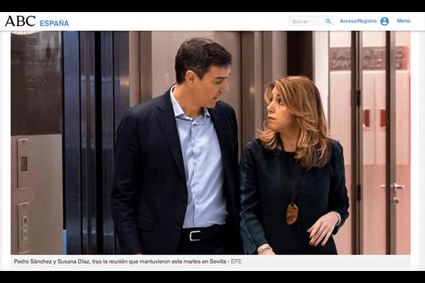 Fríos, distantes y cabizbajos. Lo que los gestos de Sánchez y Díaz desvelan sobre su relación. ABC