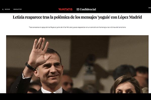 Letizia reaparece tras la polémica de los mensajes yoguis con López Madrid. Vanitatis