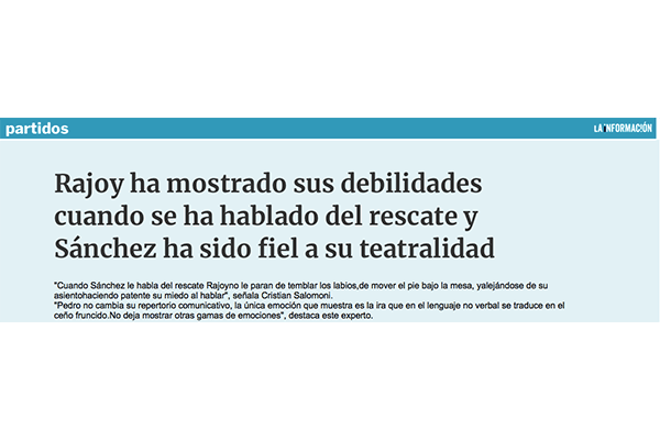Rajoy ha mostrado sus debilidades cuando se ha hablado del rescate. La Informacion.com