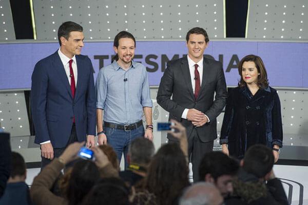 Rivera nervioso, Sánchez poco natural, Pablo fiel a su estilo y Soraya con el guión bien aprendido. La Informacion.com
