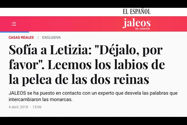 """Sofía a Letizia """"Déjalo, por favor"""". Vanitatis"""