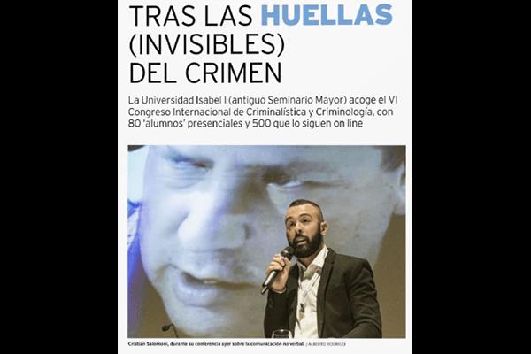 Tras las huellas (invisibles) del crimen. Diario de Burgos