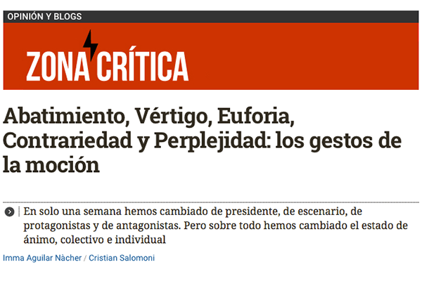 Abatimiento, Vértigo, Euforia, Contrariedad y Perplejidad, los gestos de la moción El Diario.es